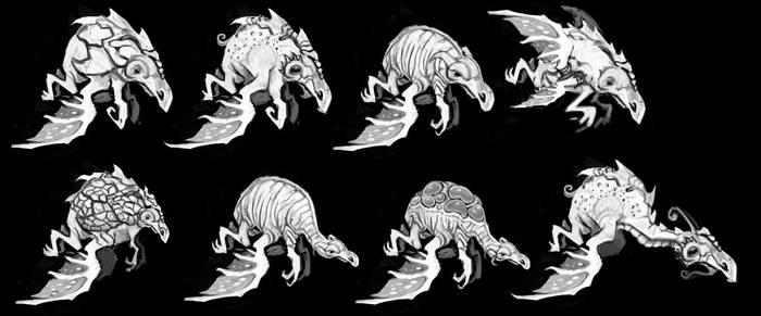 Blimp Creature Concepts mk2 by RougeSpark