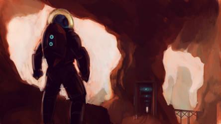 Scifi Speedpaint Red Planet Mining