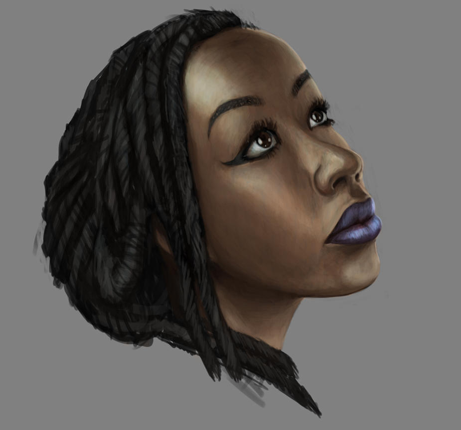 Manaka Bust Study by RougeSpark