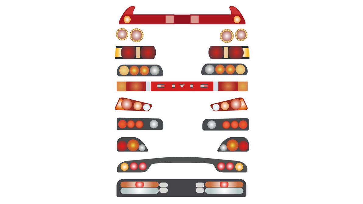 JDM Tail Lights by Reskoe ...  sc 1 st  DeviantArt & JDM Tail Lights by Reskoe on DeviantArt