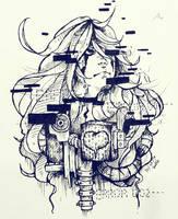Day 5 - Sad [Inktober2016] by dotpapercrowndot