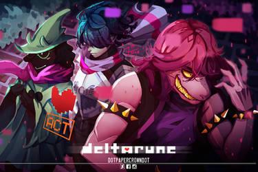 [fanart] Deltarune [Game] by dotpapercrowndot