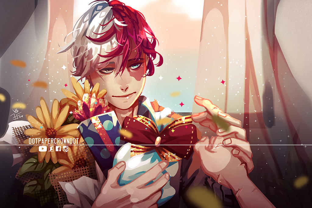 fanart] Shoto todoroki birthday 01/11 [bnh] by dotpapercrowndot on