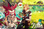 Prince Sidon and Link [zelda breath of the wild] by dotpapercrowndot