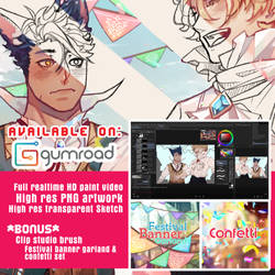 Available on Gumroad [clipstudio paint]