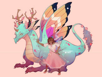 Commission by Aerin me and my dragon