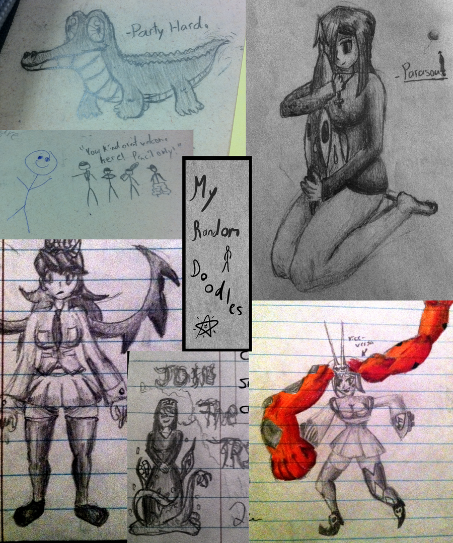 Random School Doodles by Weaselx25