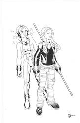 Rose Wilson and Impulse by RickMays