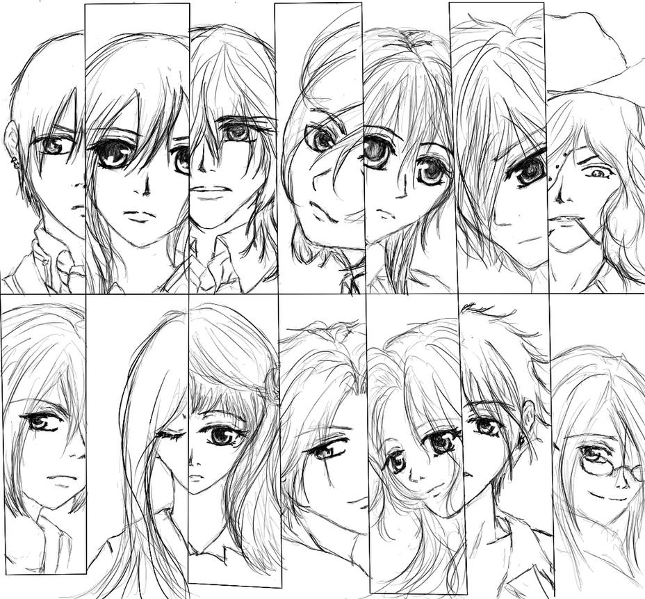 anime vampire knight coloring pages - photo#39