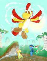 Fly Yoshi, fly! by miju22