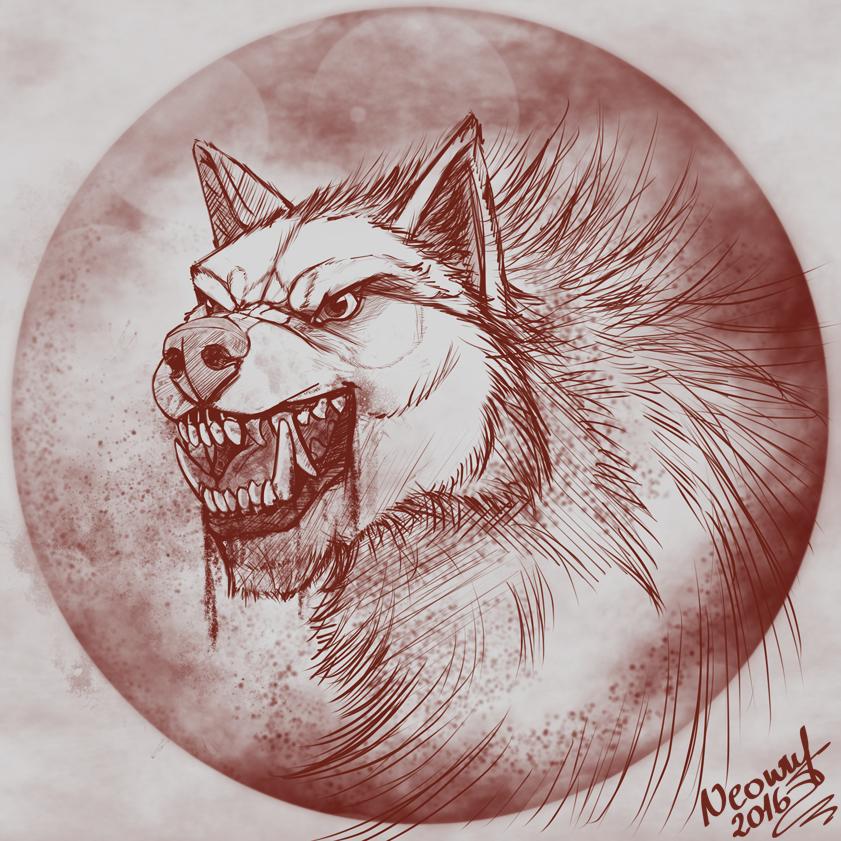 Fenrir Portrait Com by neowolf