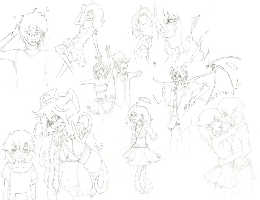 My First Sketch Dump by WafflesIsLove