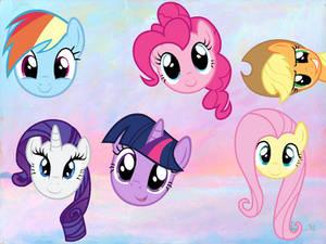 Pony faces