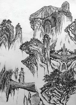 Stippling of landscape