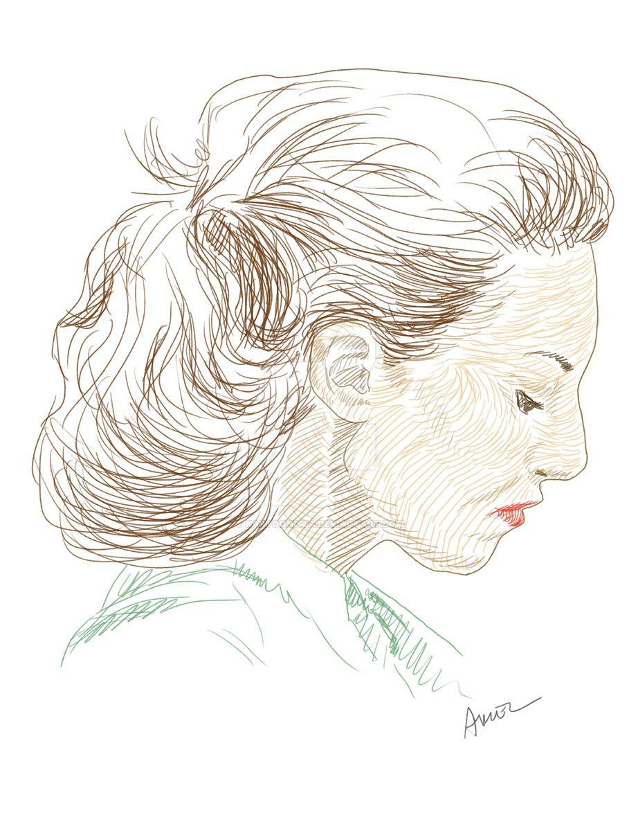 Female Profile by kartoonista