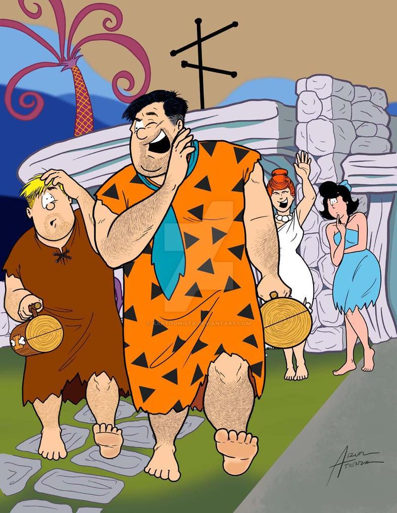 The Flintstones by kartoonista