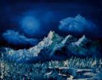 Stillness Under A Wintry Moon