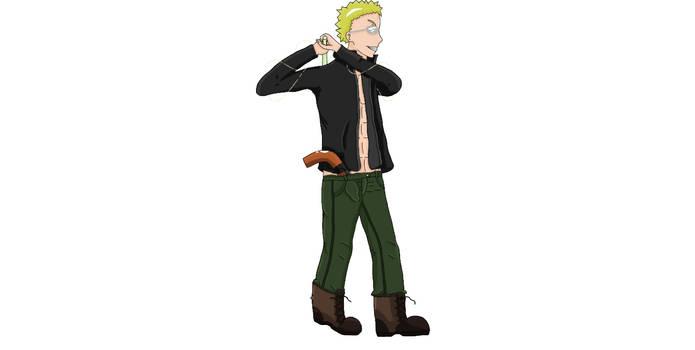 Manga Character Male 3 (Phoenix) Sideview