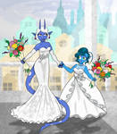 Umbra and Aurora's Wedding by Madmaxepic