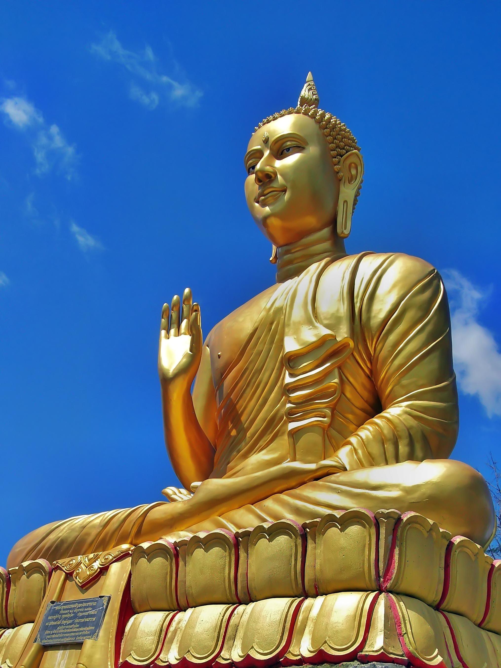 Eccezionale A DI DA PHAT BUDDHA THAILAND Golden Buddha 08 by kwanyinbuddha on  PJ72