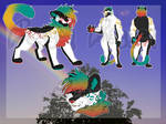Rainbow Male Cat Adopt Furry Extra Art (closed)