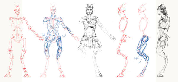 how to draw digitigrade legs