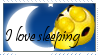 I love sleeping stamp by ZeCrazyAngel