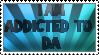 Addicted to DA stamp by ZeCrazyAngel