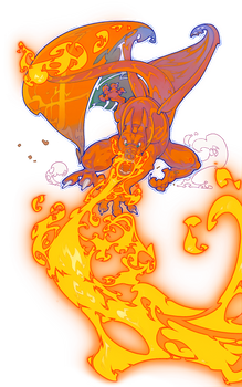 Charizard used Flamethrower!