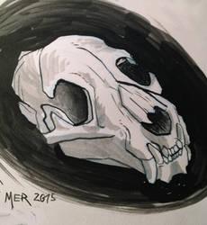 Inktober - a Skull by Radioactive-Insanity