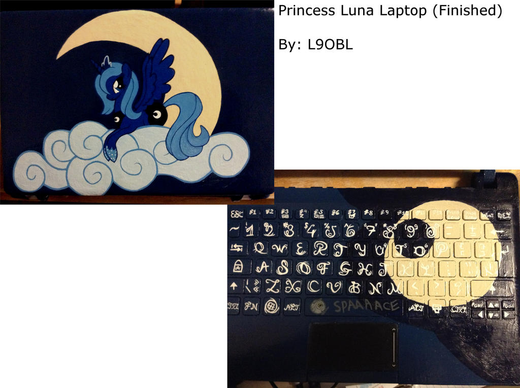 Princess Luna Laptop (Finished)
