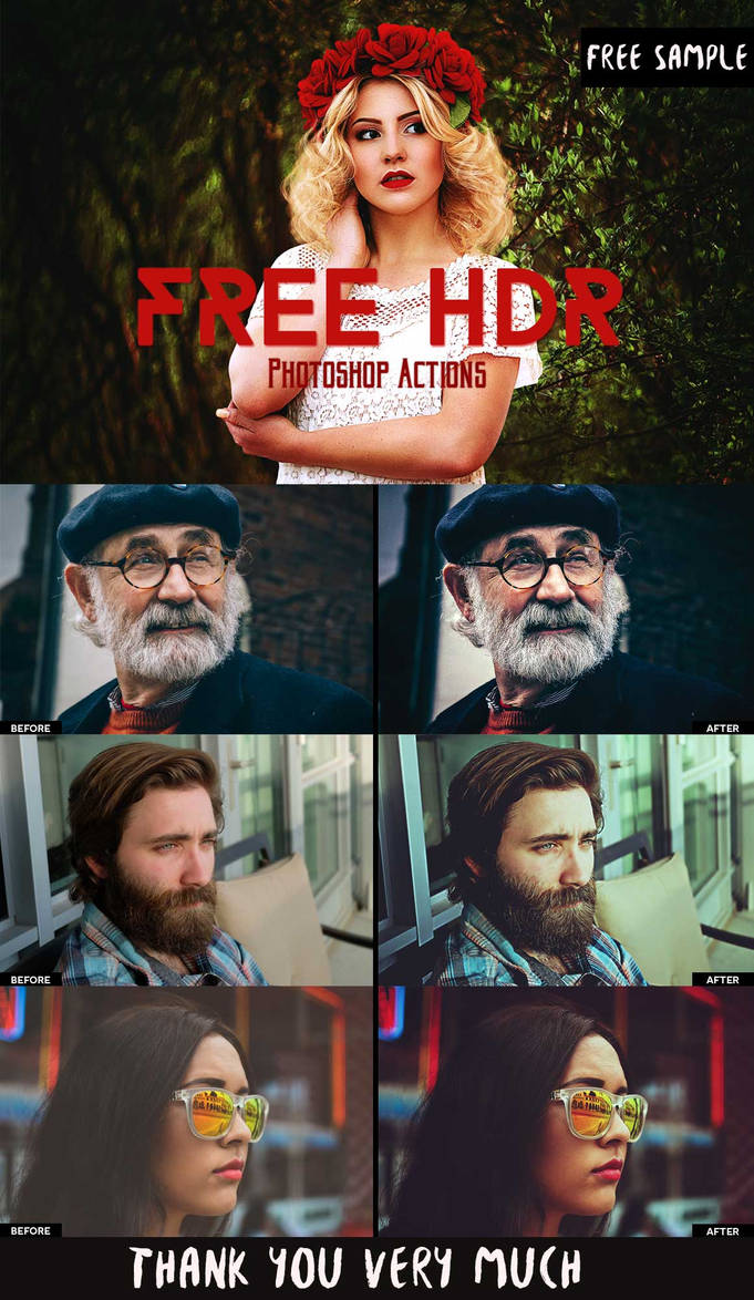 Free Download HDR Photoshop Actions by creativetastic on DeviantArt