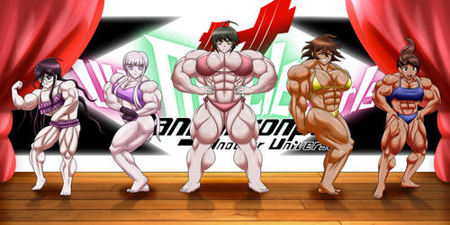 Danganronpa Ultimate Muscle Girls - Collab 2/2 by WickedBust