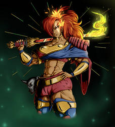 Godslayer Chikara - Portrait Version - Hades by WickedBust