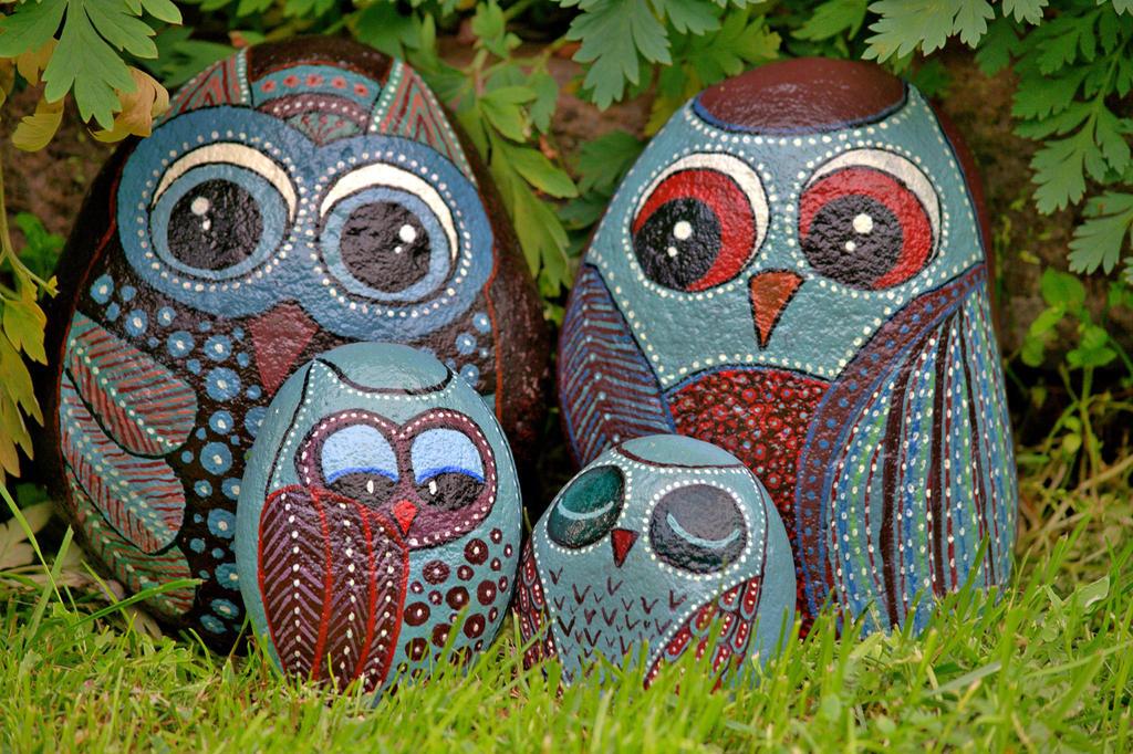 Second stone owl family by KatjaLammi