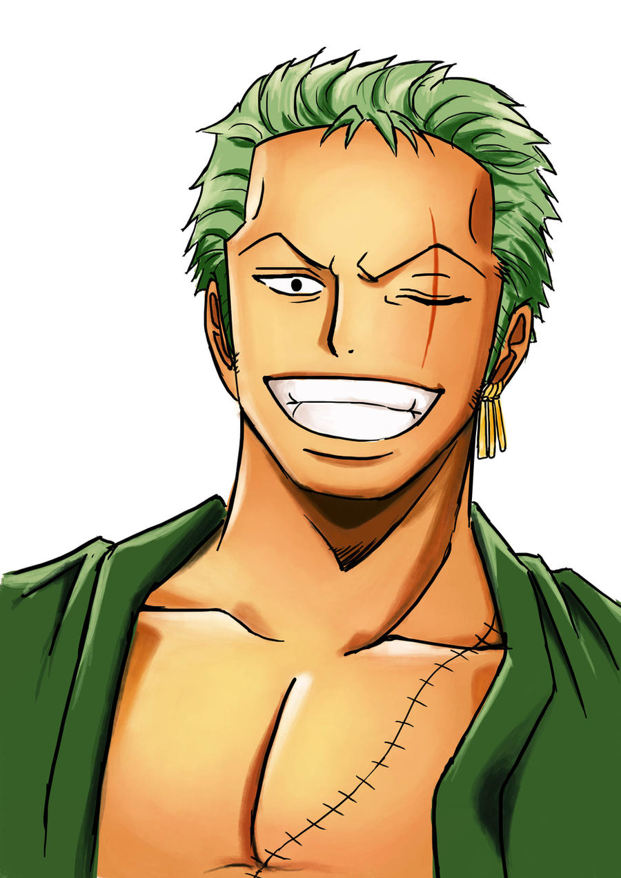 Roronoa zoro one piece fanart by miszinsane on deviantart - One piece logo zoro ...
