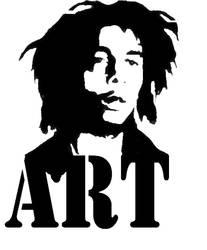 bob marley stencil by ARTpulse