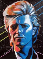 David Bowie, 80's by doodler78
