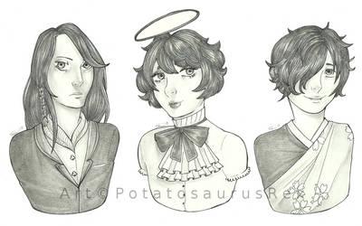 Comm: Dark-haired Trio