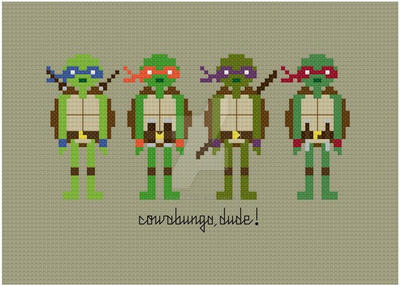 Teenage Mutant Ninja Turtles cross stitch pattern by avatarswish