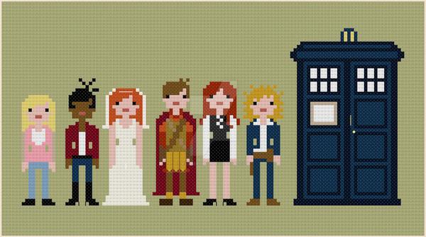 Doctor Who companions cross stitch pattern by avatarswish
