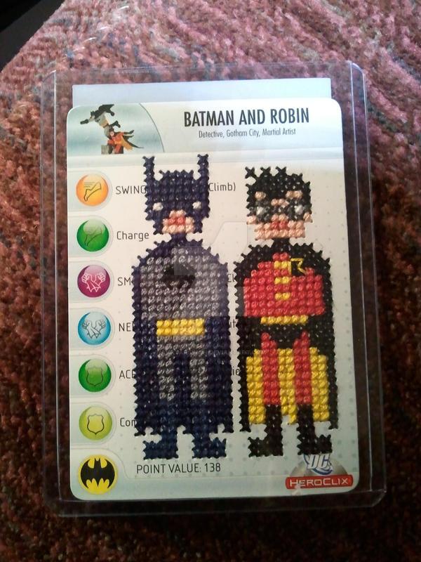 Batman and Robin cross stitch by avatarswish