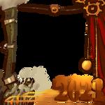 [F2U] Team Steampunk Art Fight Thumbnail Border by SunflowerHouse