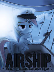 Rainbow Dash in Airship by FamelessFace