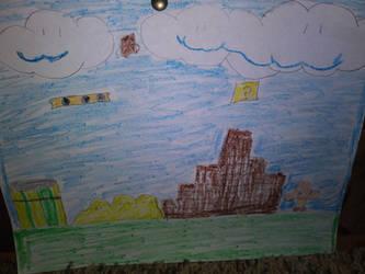 Super Mario Bros. 1 Background Drawing by LittleKunai