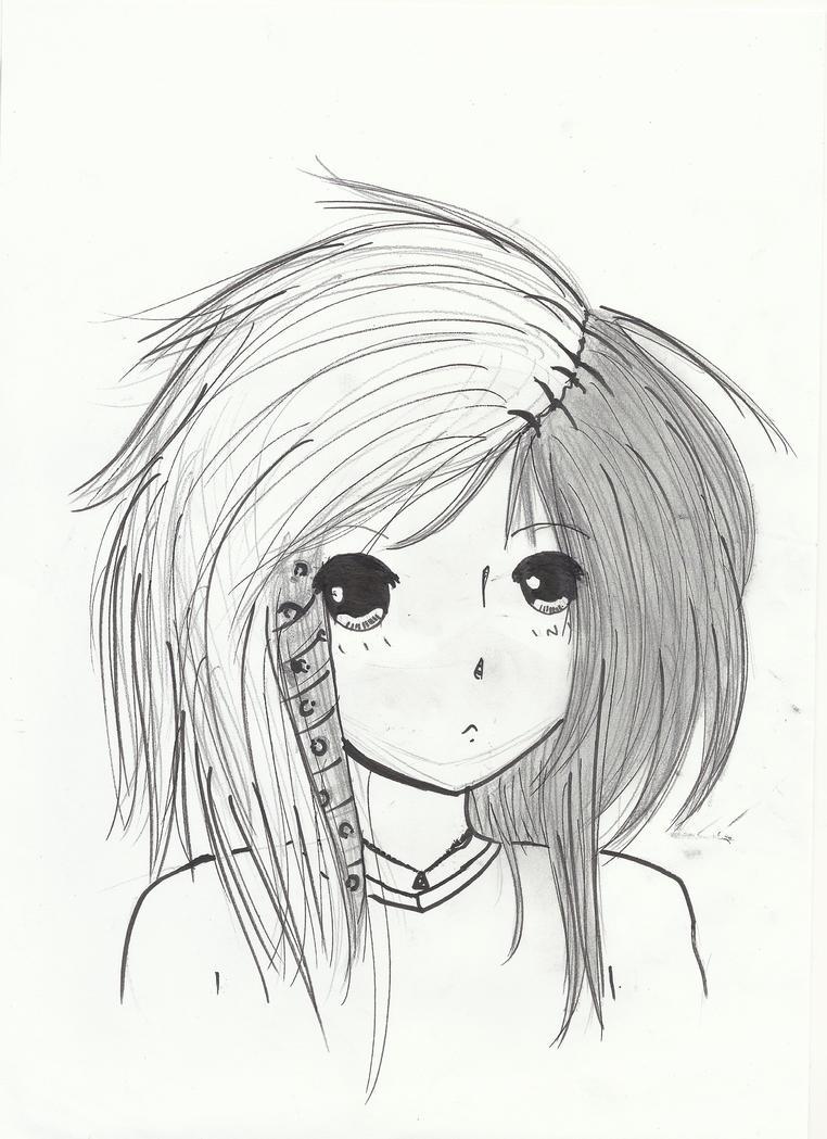 Emo girl by mangetsu ro on deviantart for Ro draw