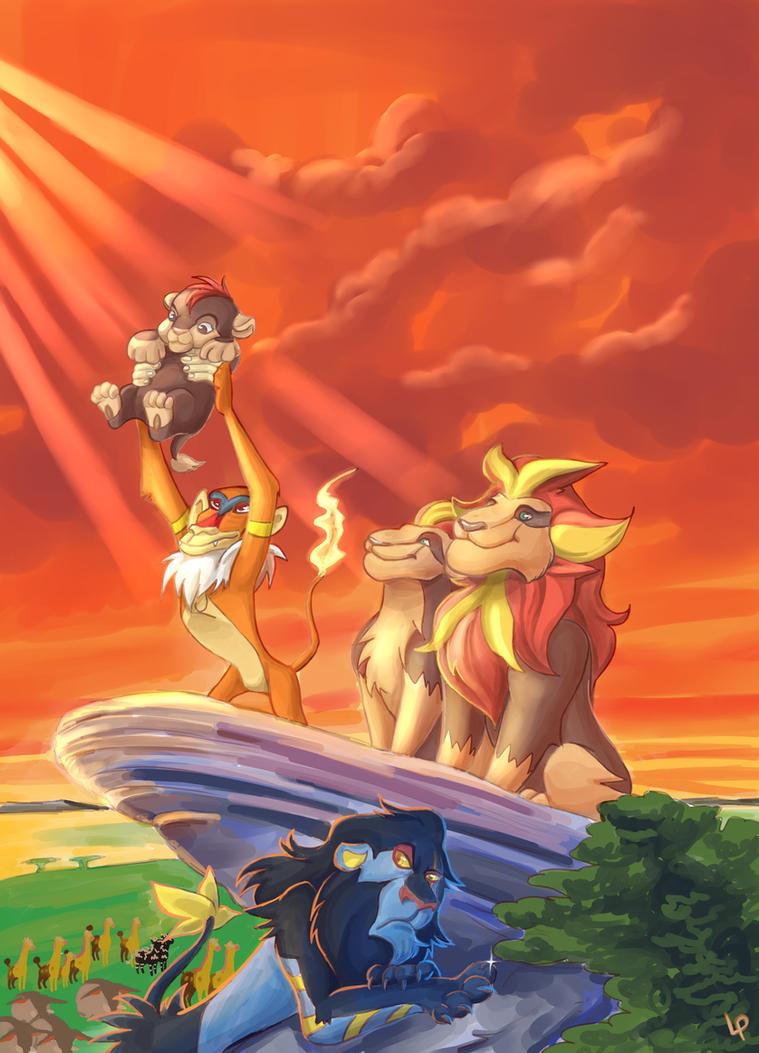 The Pyroar King by Lisosa