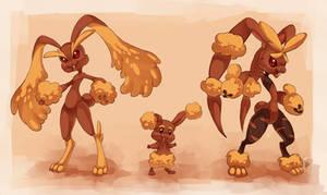 Bunnies Pokemon by Lisosa