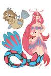 Pokemermaid: Feebas and Milotic