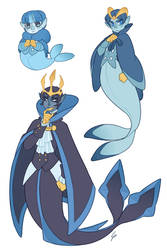 Pokemermaid: Piplup, Prinplup and Empoleon